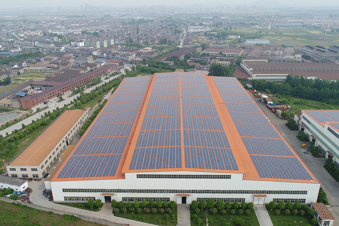江蘇沃得36.8MW分布式光伏電站