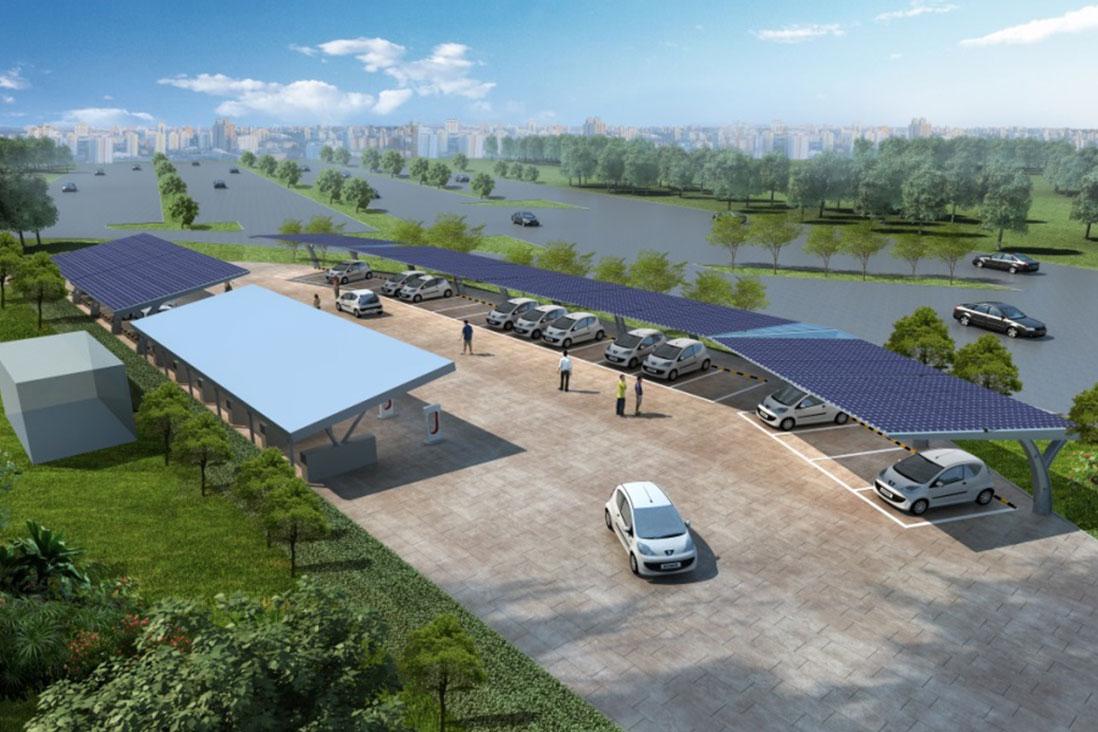 嘉定-上海國際汽車城光儲微電網項目